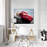 FORWALL Disney Cars Leinwandbild Kunstdruck Wandbild Cars 3 O1 (100cm. x 75cm.) AMFPP11506O1 Gratis Wandaufkleber Canvas Picture Print Kinder Disney Cars Auto McQueen Sally Darrell