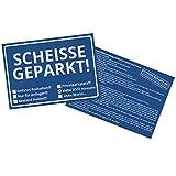 Die Scheisse Geparkt! Notizzettel mit StVO für die Windschutzscheibe im 50er Set - 3