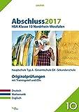 Abschluss 2017 – Hauptschulabschluss Klasse 10 Nordrhein-Westfalen: Originalprüfungen mit Trainingsteil für die Fächer Deutsch, Mathe und Englisch für Mathe und Audio-CD für Englisch (pauker.)