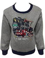 Warmes Sweatshirt Motiv Feuerwehr JS141e