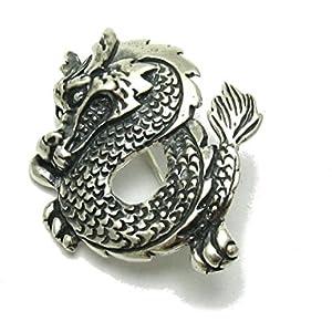 Sterling Silber Brosche Drachen massiv 925 Empress