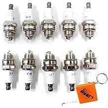 HURI 10 Stück Zündkerze für Motorsägen und Motorsensen Ersetzt BOSCH WS5F, CHAMPION CJ6Y, CJ7Y, NGK BPM7A, TORCH L7TC