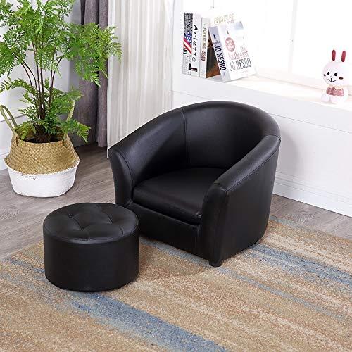 Sofabank der Kinder Einzelschlafzimmer-Minikarikatursitz Nettes kleines Mädchen des Babykinderkindergartens, schwarzes rundes Sofaset