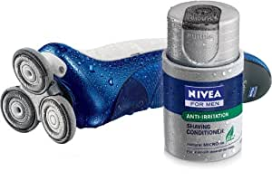 Philips Nivea For Men Coolskin HS8440 Rechargeable Shaver With Precision Sideburns Trimmer