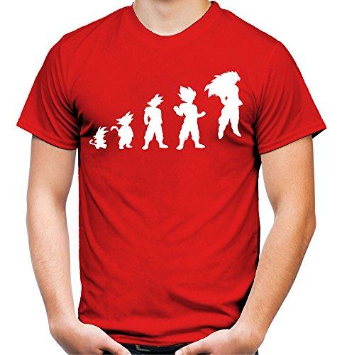 Evolution Son Goku T-Shirt   Dragonball-Z   Super   Vegeta   Saiyajin   Herren   FB Schwarz