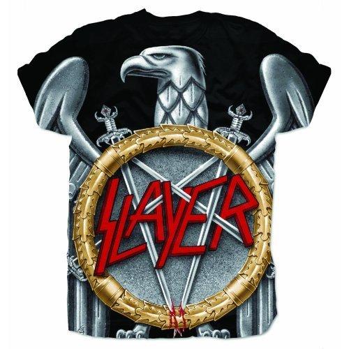 Slayer Herren T-Shirt Silver Eagle Sublimation Schwarz - Schwarz