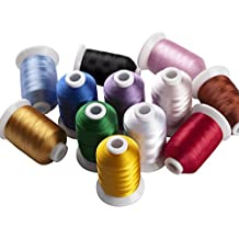 simthreads 12 Brother colores poliéster hilo de bordar, ...