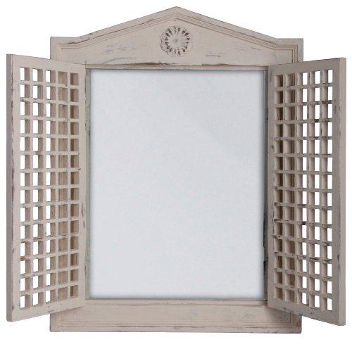 fenster spiegel holz Esschert Design Fenster, Holz, Spiegel, weiß, 46.8 x 4.5 x 61.5 cm