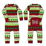 Xmas Familie Zusammenpassen Weihnachten Schlafanzug - Mxssi Jumpsuits Pyjama Set Overalls Strampler Familie Matching Pajamas Nachtwäsche Schlafanzüg Kids Mom Dad Onesie Gestreiften Jumpsuit