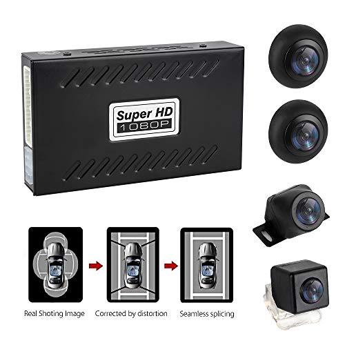 MiCarBa Caméra de recul Universelle 1080p panoramique 360 degrés avec capteur G et Enregistrement de Voiture étanche