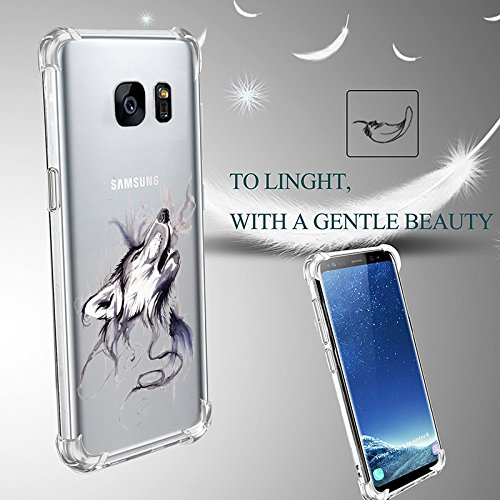 samsung galaxy s7 hülle, JEPER galaxy s7 Schutzhülle Air-Cushion Shock Absorption Kratzfest Transparent Bumper Schutzhülle TPU Silikon Flexibles Case Drop Schutz Cover 02
