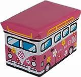 Bieco 4931304 Staubox und Sitzbank Love Bus, 49 x 31 x 31 cm
