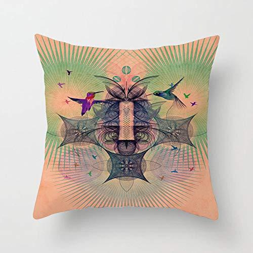 LOIKHGV Kissenbezug 45x45 Kissenbezug Square Pillow Cover Kissenbezug Toss Hidden Zipper Closure Kissen Muster für SchlafzimmerWohnzimmer, 19,45 cm Single, Seite