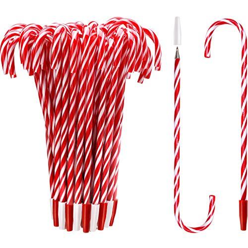 7 Pollice Penna della Canna di Caramella Penne di Natale con Inchiostro Nero e Blu per le Vacanze di Natale Nuovi Anni Casa Decor Festa Regalo (48)