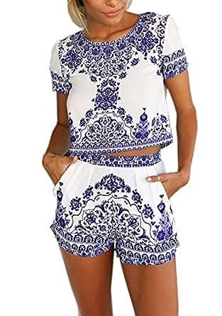 t shirt tank tops shorts damen sommer high waist hose blumen gr xl bekleidung. Black Bedroom Furniture Sets. Home Design Ideas