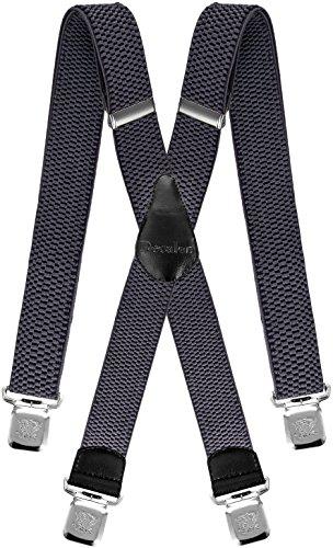 Decalen bretelle uomo donna x forma elastici registrabili clip molto forti colori nero blu rosso (grigio chiaro)