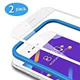 TAMOWA [2 Pezzi Vetro Temperato per iPhone 8/7, 3D Copertura Completa Pellicola Protettiva in Vetro Temperato per iPhone 8/ iPhone 7【Telaio di Installazione Incluso】, 3D Touch Compatible (Bianca)