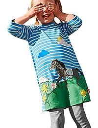 LEvifun Vestito da Partito della Principessa del Ricamo della Stampa  dell anatra del Bambino dei Vestiti del Bambino del… e74bd0a56ed
