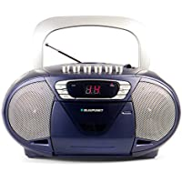 BLAUPUNKT Boombox 11 (Vers. 2017) tragbares CD-Radio mit Kassettenplayer (LED-Display, Backlight, 2x 2,2 Watt RMS, UKW-Tuner) blau