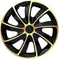 Schwarz-Pink passend f/ür Fast alle Fahrzeugtypen Autoteppich Stylers 13 Zoll Radkappen//Radzierblenden 002 Bicolor 13 universal