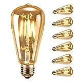 Edison Vintage Glühlampen, Samione Warmweiß E27 LED Lampe Retro Glühbirne Antike Beleuchtung, Ideal für Retro Beleuchtung im Haus Café Bar Restaurant usw 6 Stück, [Energieklasse Energieklasse A++]