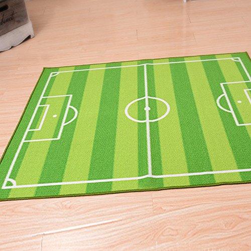 GFYWZ Tappeto antiscivolo e impermeabili di calcio per bambini coperta casa stuoie , green , 1.1*1.3