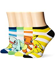 Pokemon Classic Group Shot Ankle Chaussettes - Set of 4