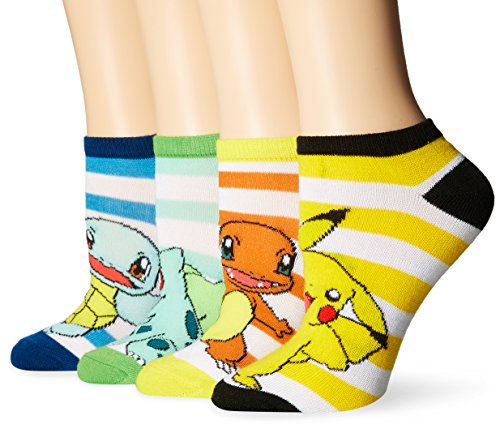 Pokemon Classic Group Shot Ankle Calze - Set of 4