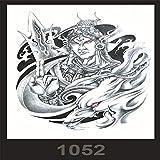 tzxdbh 3pcs-Spot Anti-Real Grande Image imperméable Fleur Bras Tatouage Autocollants beauté Tatouage Macho Ensemble 3pcs-12