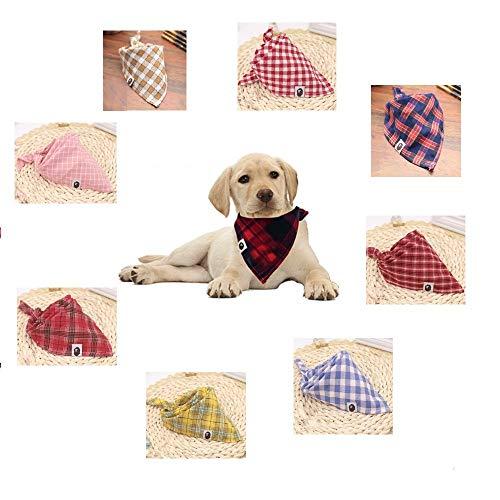 AscenLite 8Stück/Pack Classic Pet Hund Bandannas Waschbar Triangle Plaid Verstellbar Hund Schal Bow Ties (Dreieck Bow Tie)