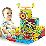 Chocozone Battery Operated 81pcs Rotating Building Blocks with Gears for STEM Learning, Educational