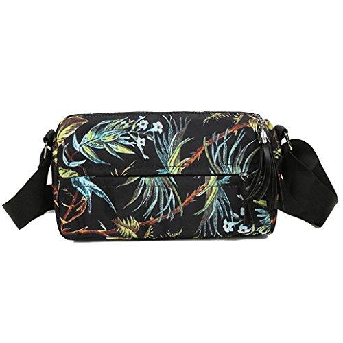 2017 Borse donna,Kangrunmy®Moda borsa Nylon fiori floreale borsa a tracolla grande Tote borsa delle signore B