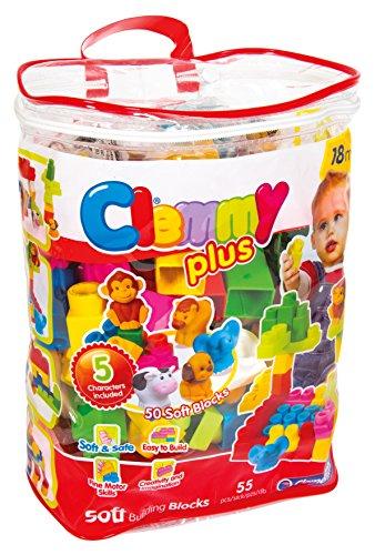 Clementoni - Clemmy Plus Bolsa con 50 Bloques + 5 Personajes (17136.8)