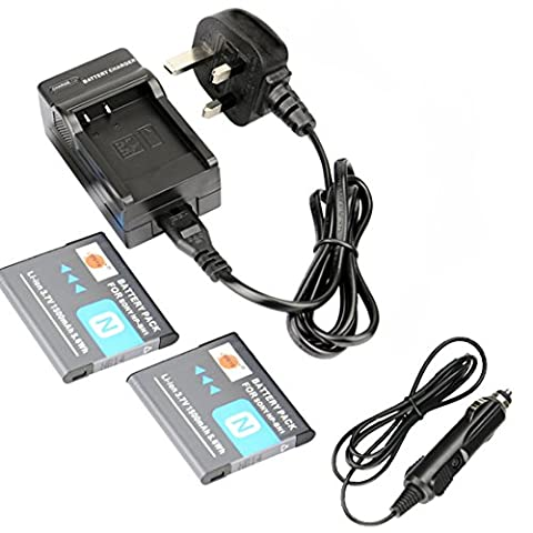 DSTE® 2x NP-BN1 Rechargeable Li-ion Battery + DC95U Travel and Car Charger Adapter for Sony Cyber-shot DSC-W510 DSC-W515PS DSC-W500 DSC-W520 DSC-W530 DSC-W550 DSC-W560 DSC-W570 DSC-W580 DSC-W610 DSC-W620 DSC-W650 DSC-W690 DSC-W710 DSC-W730 DSC-W810 DSC-W830 DSC-WX5 DSC-WX7 DSC-WX9 DSC-WX30 DSC-WX50 DSC-WX70 DSC-WX80 DSC-WX150 DSC-QX10 DSC-QX100 DSC-T99 DSC-T110 DSC-TF1 DSC-TX5 DSC-TX7 DSC-TX9 DSC-TX10 DSC-TX20 DSC-TX30 DSC-TX55 DSC-TX66 DSC-TX100V DSC-TX200V DSC-W310 DSC-W320 DSC-W330 DSC-W350 DSC-W360 DSC-W380 DSC-W390 Camera