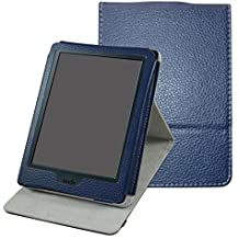 Kindle 8th Generación Funda,Mama Mouth case Funda Carcasa de cuero con soporte ajustable Modo con Auto-Sueño / Estela Función para Nuevo E-reader Amazon Kindle (8ª generación - modelo de 2016),Azul