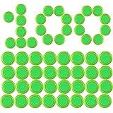 Disc Pfeiles, Foxom 100 Stück Disc Nachfüllpack für Nerf Vortex Praxis Nitron Vigilon Proton Revonix Pyragon Lumitron Diatron Blasters, Spielzeugblasterzubehör
