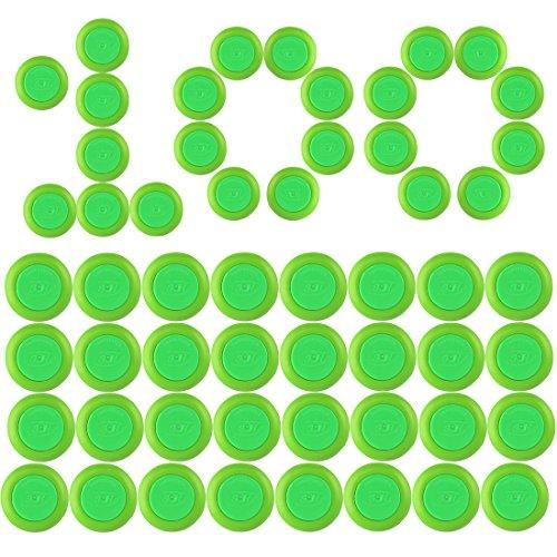 Disc Pfeiles, Foxom 100 Stück Disc Nachfüllpack für Nerf Vortex Praxis Nitron Vigilon Proton Revonix Pyragon Lumitron Diatron Blasters, Spielzeugblasterzubehör (Disc Nerf)