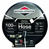 Best Briggs & Stratton Rubber Garden Hoses - Briggs and Stratton 8BS100 100-Foot Premium Heavy-Duty Rubber Review