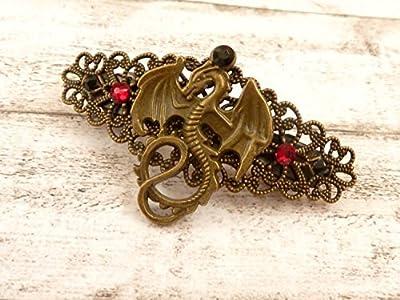 Petite pince à cheveux avec motif de dragon, accessoires pour cheveux fantaisie
