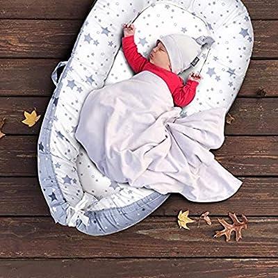 Tumbona para bebé, Nido Transpirable para recién Nacido, Funda extraíble con algodón orgánico Supersuave, Idea para recién Nacidos para Cosleeping
