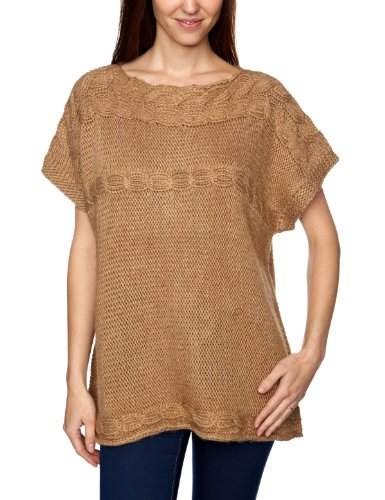 Jackpot Damen Pullover Luxury Fit, A46117001 / Soleda, Gr. 38 (M), Beige (M70 Light straw melang)