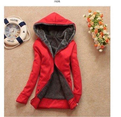 Xing Lin Felpa Con Cappuccio Per Esterno Caldo Cappotto Donna Cappotto Di Lana Addensare Giacche Felpa Con Cappuccio The Red