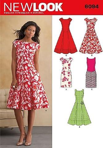 New Look NL6094 Schnittmuster Kleid, 22 x