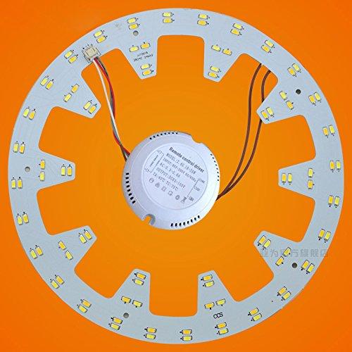 Datos técnicos: Tamaño: 10.82en diámetro Fuente de luz: SMD 5730LED Cantidad: 96LEDs Color de luz: Luz blanca caliente, luz blanca, luz blanca suave Potencia: 24W Material: Aluminio Vida útil: 30.000hrs CRI: 70-90ra iluminación son: 322.91sq. ft...