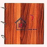 Ailiebhaus Album fotografico in legno fai da te album anniversario Scrapbook regalo di compleanno 26* 26cm Happy Room