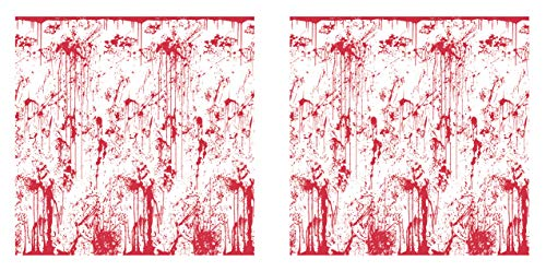 ndhintergründe Bloody Wall Backdrops 2-teilig, 121,9 x 76,2 cm, weiß/rot ()