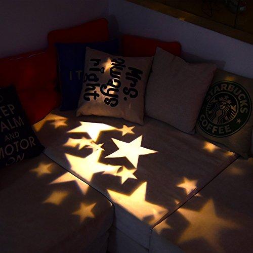 E-foxer Wasserdichte außen LED Weihnachtsbeleuchtung, 1Gartenleuchte LED Sternenhimmel Projektor, Mauer Dekoration, Party Licht, Gartenlicht für Festen, Weihnachten, Karneval (Warm White) - 3