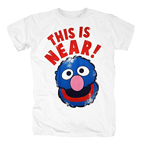 r Near and Far T-Shirt Herren XS Weiß (Bert En Ernie Halloween)