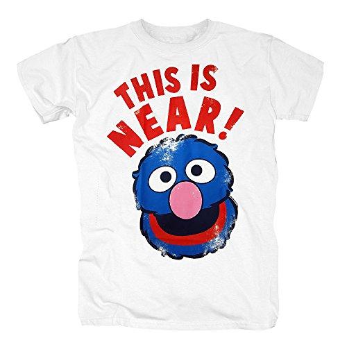 TSP Sesame St. Grover Near and Far T-Shirt Herren XS Weiß