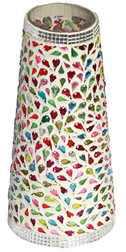 SouvNear florero–verde 9.1inch lunares decorativa–jarrón de cerámica (para dispositivos/balcón/Windows/esquina estantes/camisas para hornillo...